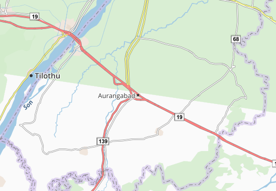 Mapa Plano Aurangabad