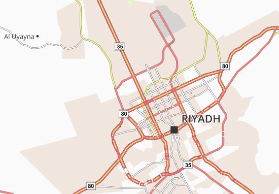 Map Of Al Aqeeq Michelin Al Aqeeq Map ViaMichelin - Riyadh map