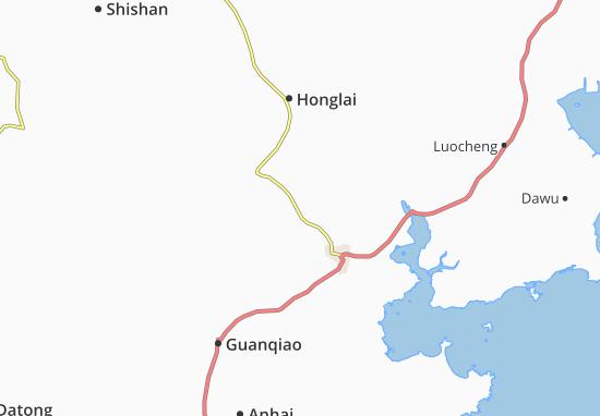 Kaart Plattegrond Fengzhou