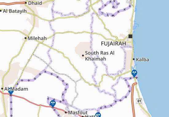 Mappe-Piantine South Ras Al Khaimah