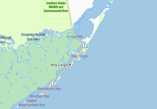 Map of Key Largo Michelin Key Largo map ViaMichelin – Key Largo Tourist Attractions Map