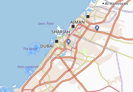 Mapa Plano Al Garhoud