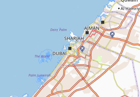 Dubai Map: Detailed maps for the city of Dubai - ViaMichelin on