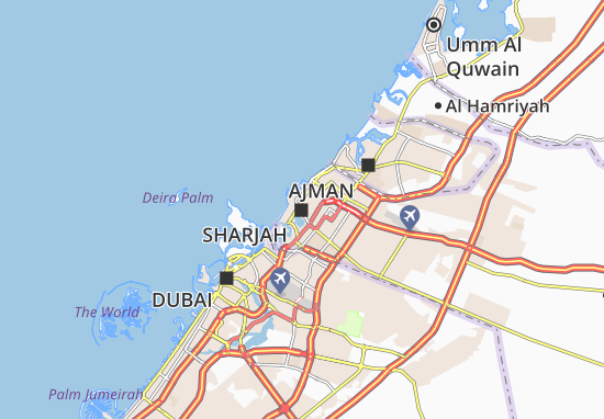 Sharjah map detailed maps for the city of sharjah viamichelin are you looking for the map of sharjah find any address on the map of sharjah or calculate your itinerary to and from sharjah find all the tourist gumiabroncs Image collections