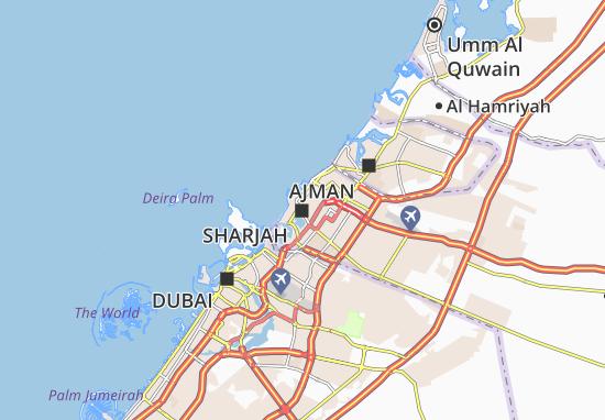 Mapa Plano Sharjah
