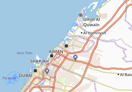 Ajman Map: Detailed maps for the city of Ajman - ViaMichelin on