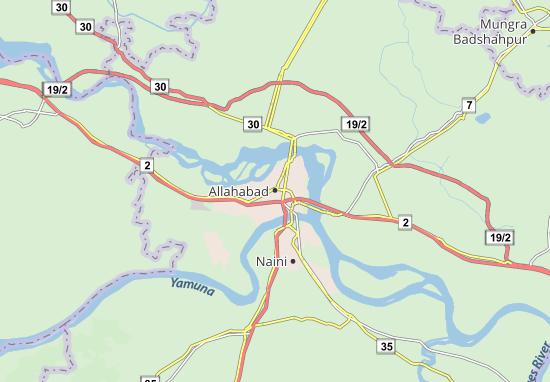 Carte-Plan Allahabad