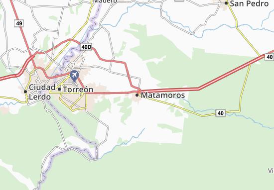 Map of Matamoros - Michelin Matamoros map - ViaMichelin