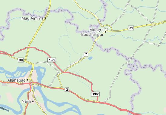 Kaart Plattegrond Phulpur