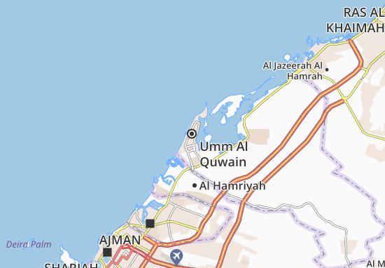Carte-Plan Umm Al Quwain
