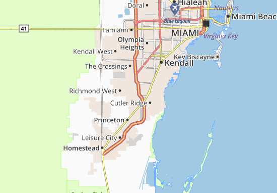 South Miami Heights Map