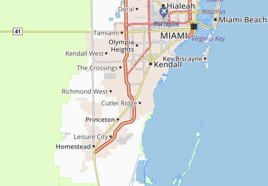 West Perrine Map