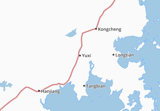 Kaart Plattegrond Yuxi