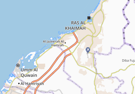 Mapa Plano Al Jazeerah Al Hamrah