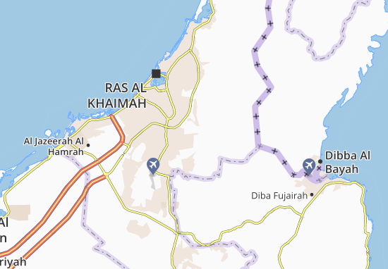 Carte-Plan North Ras Al Khaimah