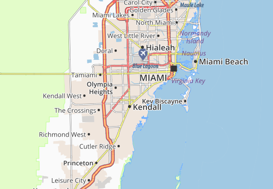 Map of South Miami Michelin South Miami map ViaMichelin – Miami Tourist Attractions Map