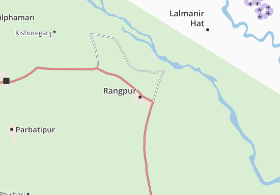 Mapa Plano Rangpur