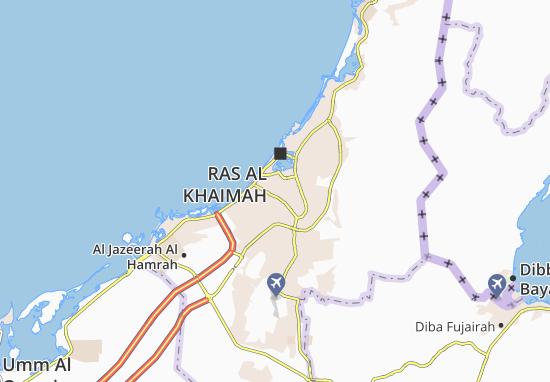 Mapa Plano Al Dhait North