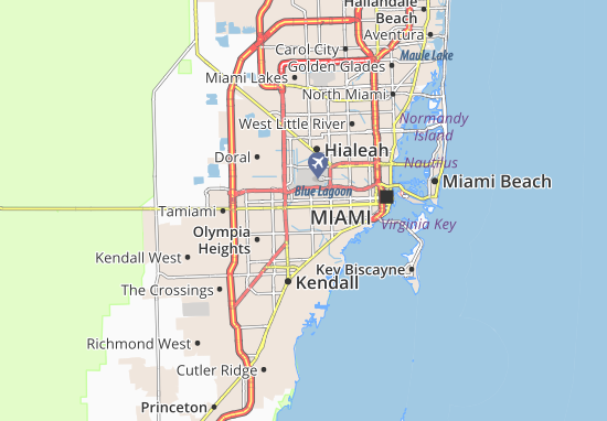 Mappe-Piantine West Miami