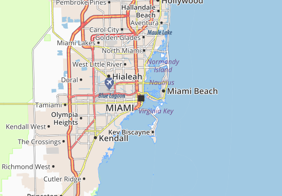 Map of Miami Michelin Miami map ViaMichelin – Miami Tourist Attractions Map