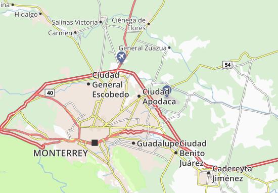 Ciudad Apodaca Map Detailed Maps For The City Of Ciudad Apodaca Viamichelin