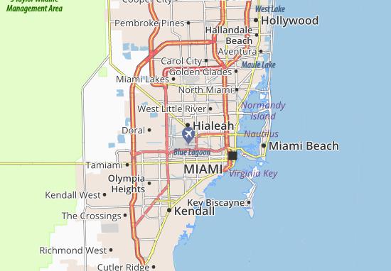 Kaart Plattegrond Miami Springs
