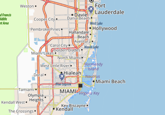 Mappe-Piantine North Miami
