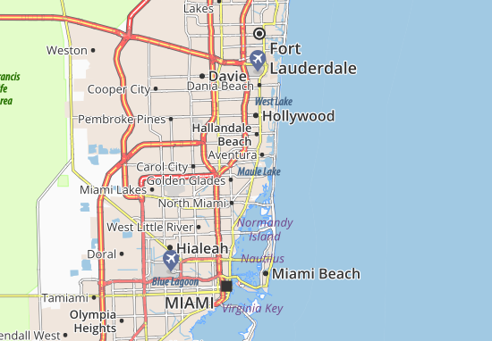 miami kaart Kaart van North Miami Beach  plattegrond van North Miami Beach