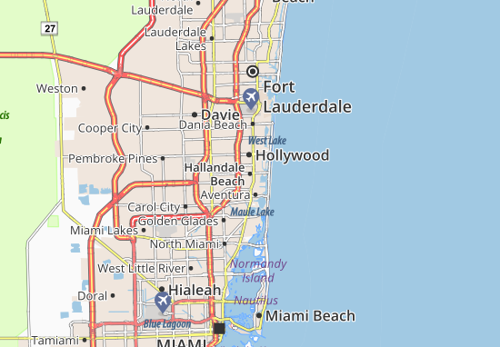Carte-Plan Hallandale Beach