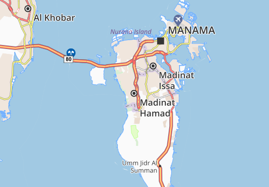 Map Of Madinat Hamad Michelin Madinat Hamad Map Viamichelin