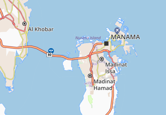 Map Of Al Janabiyah Michelin Al Janabiyah Map Viamichelin