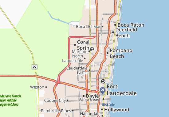 North Lauderdale Map