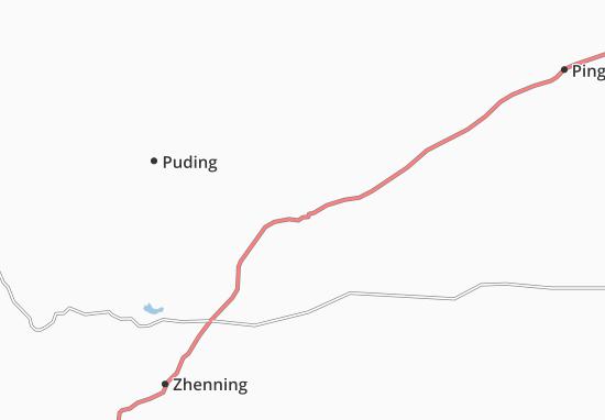 Kaart Plattegrond Anshun