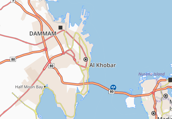 Carte-Plan Al Khobar
