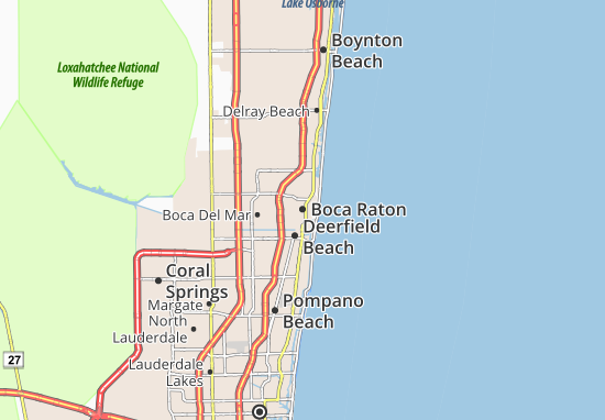 Map Of Florida Showing Boca Raton.Map Of Boca Raton Michelin Boca Raton Map Viamichelin
