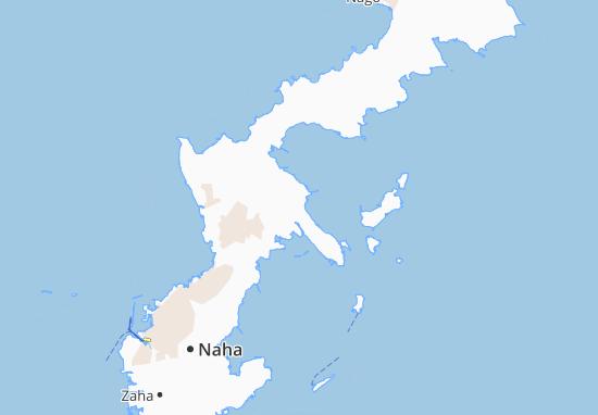 Kaart Plattegrond Gushikawa