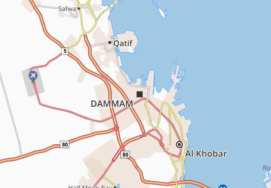 Dammam Map on
