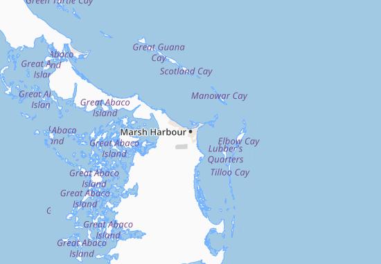 Kaart Plattegrond Marsh Harbour
