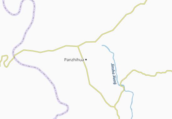 Kaart Plattegrond Panzhihua