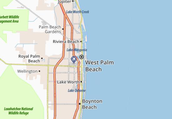 Michelin Palm Beach Map Viamichelin