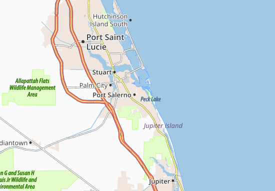 Port Salerno Map