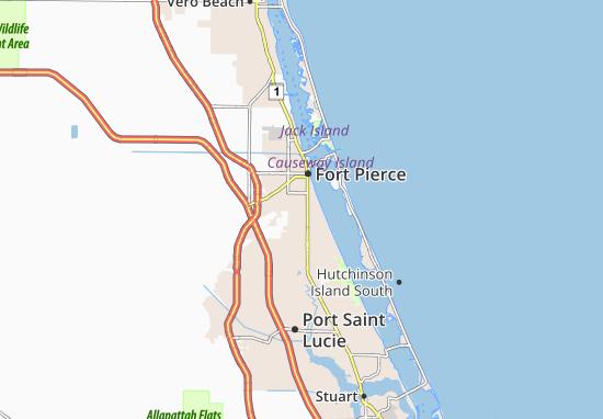 Kaart Plattegrond Fort Pierce South