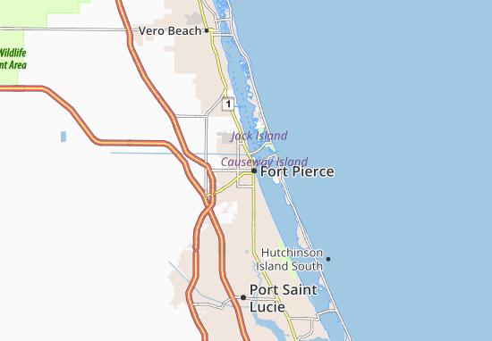 Kaart Plattegrond Fort Pierce