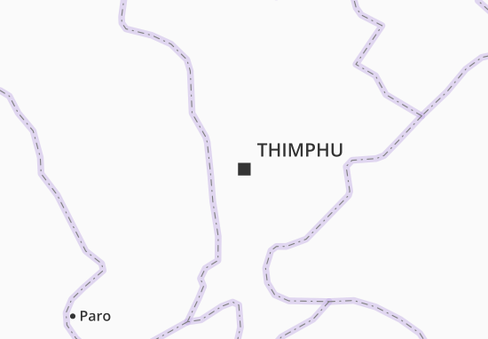 Kaart Plattegrond Thimphu