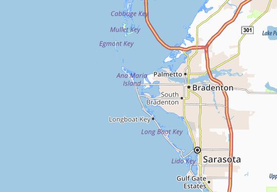 Map of Bradenton Beach - Michelin Bradenton Beach map