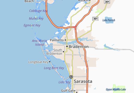 Kaart Plattegrond Bradenton