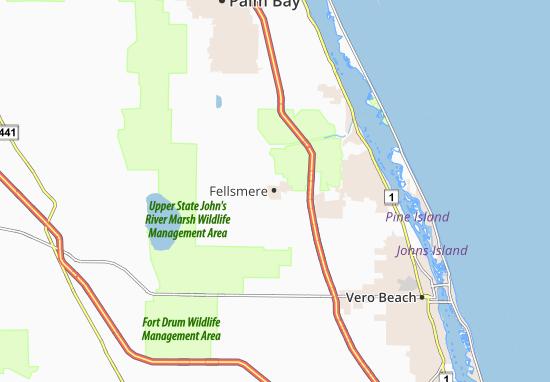 Fellsmere Map