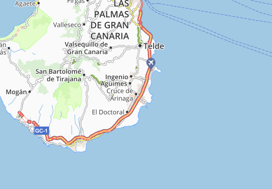 Mapa De Las Palmas De Gran Canaria Calles.Mapa Cruce De Arinaga Plano Cruce De Arinaga Viamichelin