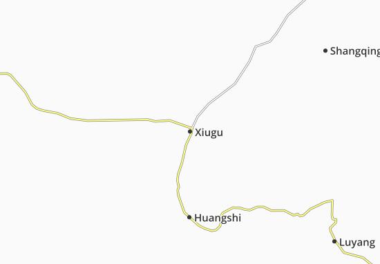 Kaart Plattegrond Xiugu