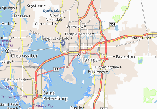 Map of Tampa Michelin Tampa map ViaMichelin – Tourist Attractions Map In Tampa